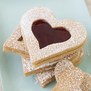 Valentine Day Vanilla Shortbread Hearts Recipe