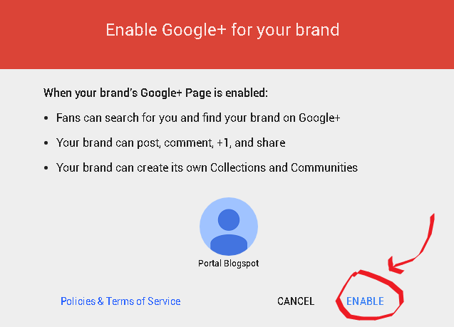 Enable Brand Accounts di Google Plus