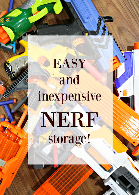 Easy Nerf storage idea