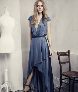 Blue Satin Dress, H&M Conscious Collection