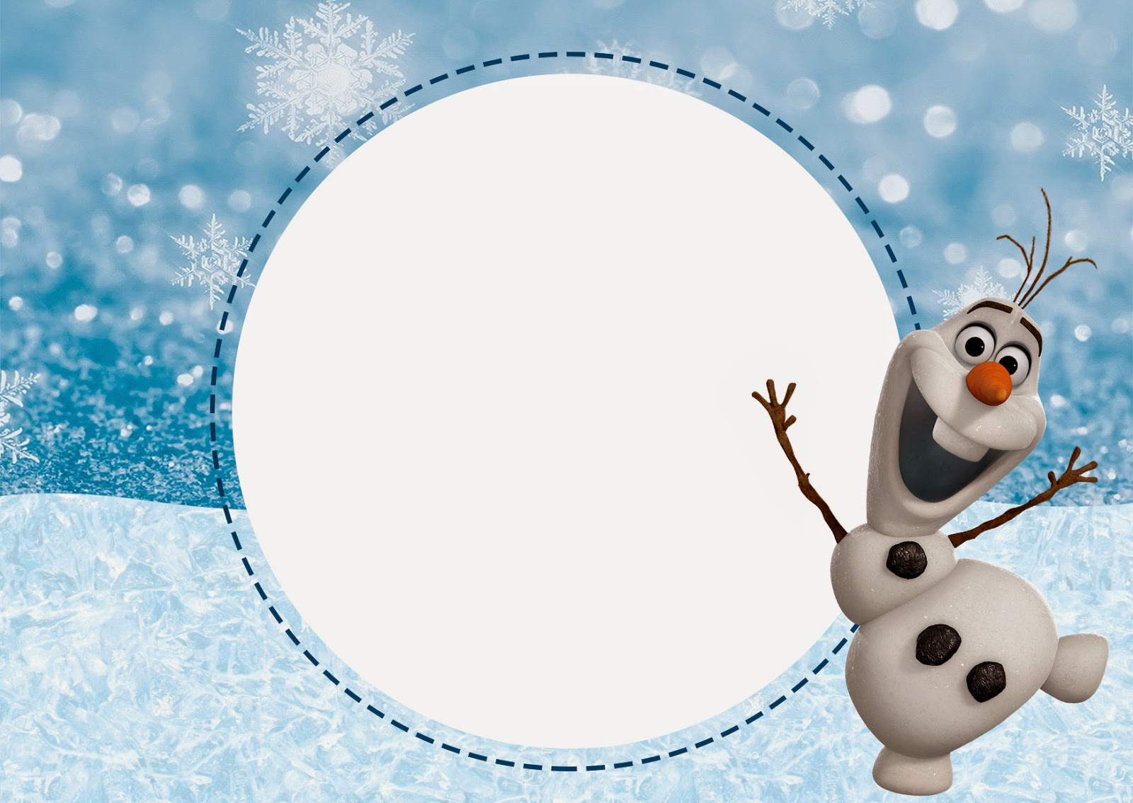 Olaf: Invitaciones para Imprimir Gratis. | Ideas y