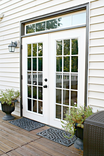 French patio doors with glass