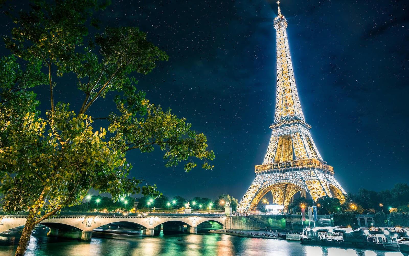 Foto Eiffeltoren in Parijs bij nacht