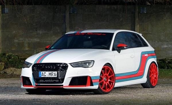 MR Racing presentó un Audi RS3 con más de 530 CV y 700 Nm