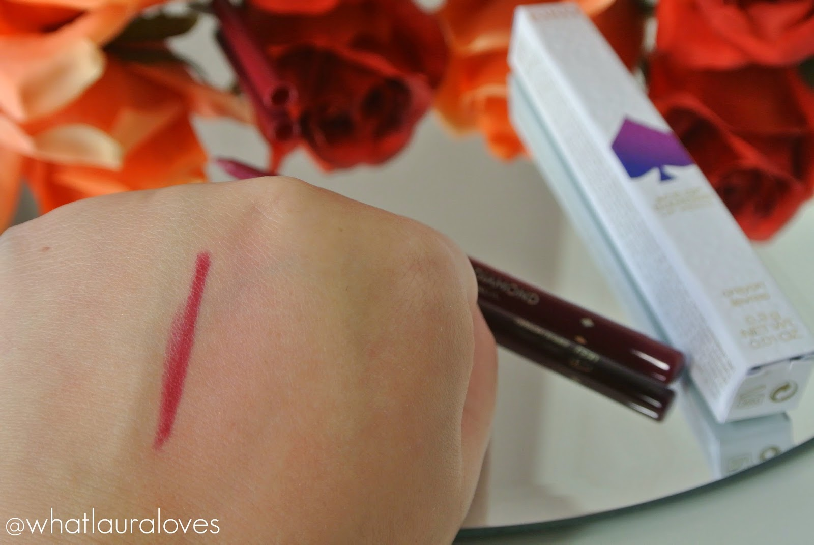 Kiko Ace of Diamond Lip Pencil Refined Burgundy Swatch