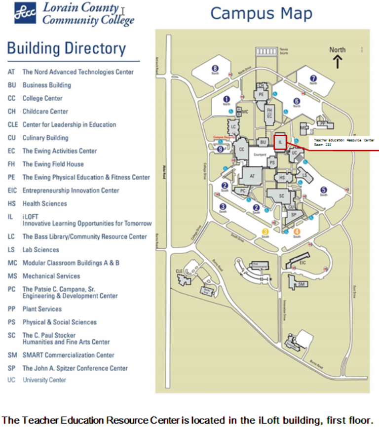 Teacher Education Resource Center Map Location Of The Terc