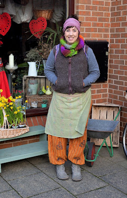 Proprietor Clair Smith outside her Hidden Garden flower shop in Brigg - February 2019