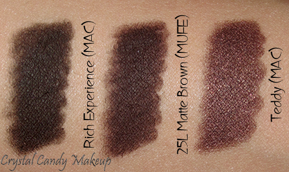 Crayon Aqua Eyes 25L Matte Brown de Make Up For Ever - Swatch - Rich Experience - Teddy