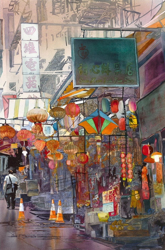 07-Lantern-Shop-John-Salminen-Watercolor-Paintings-Taking-Glimpses-into-our-Life-www-designstack-co
