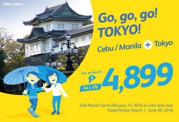 Cheap Air Fare Cebu Manila to Tokyo Promo 2016