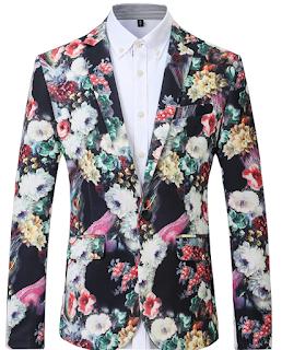 Floral Multicolor Pure Elegance Stunning Mens Blazer