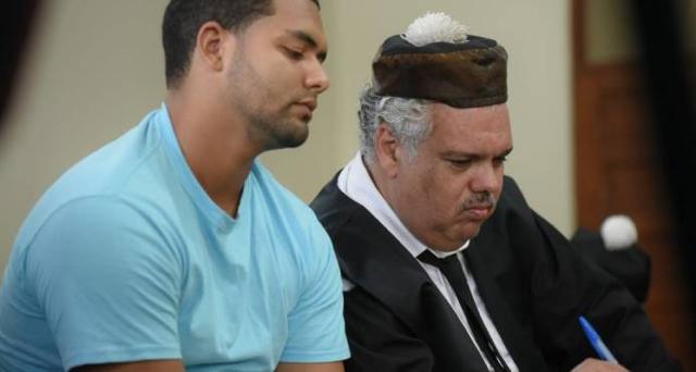 Marlon Martínez y su abogado Ricardo Reyna
