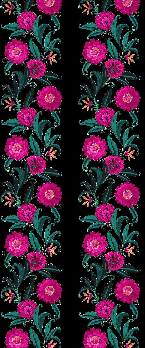 Vector Flower Art for Textile Print 2304