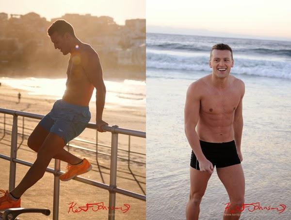 Sydney, Bondi beach, summer location, men's modelling portfolio photo shoot.