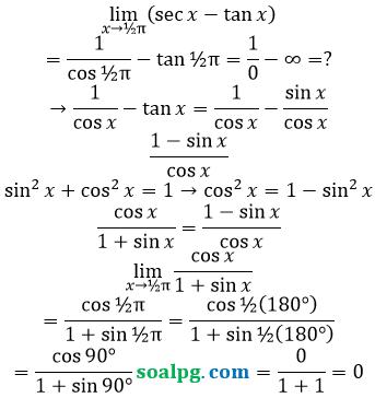 bahas limit x mendekati pi