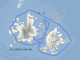 Naver Maps underwater imagery locations around the Dokdo islands