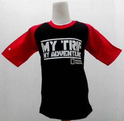 Kaos Raglan Anak My Trip My Adventure 5 (MTMA) Hitam