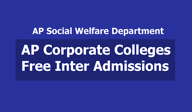AP Corporate Colleges Free Inter Admissions notification 2019