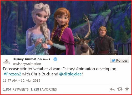 Frozen 2 tweet animatedfilmreviews.filminspector.com