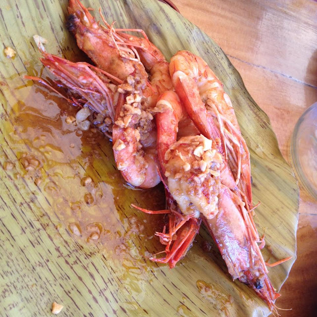 Garlic butter prawns at Lantaw Native Restaurant