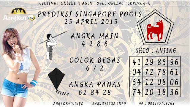 Prediksi Angka Jitu SINGAPORE POOLS 25 APRIL 2019