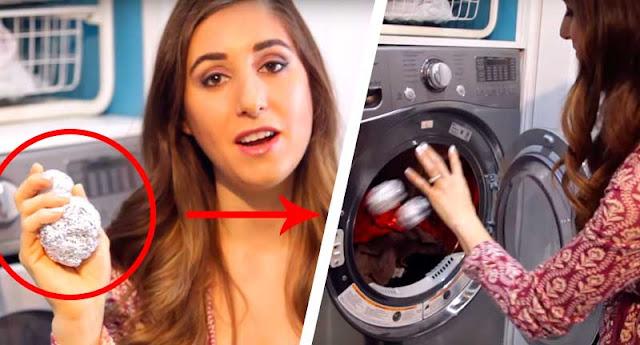Aluminio en la lavadora, increible truco
