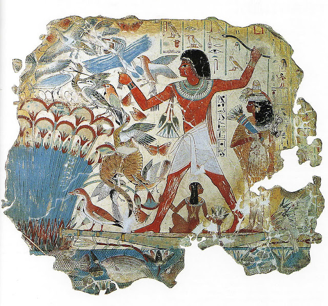 Tomb of Nebamun, Hunting Birds