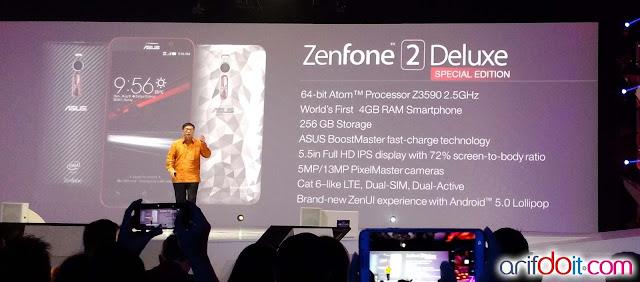 fitur lengakp dari Asus Zenfone 2 Deluxe Special Edition
