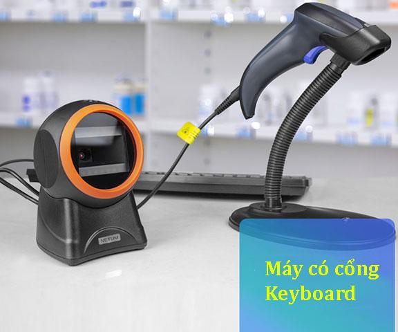 Máy quét mã vạch - cổng Keyboard
