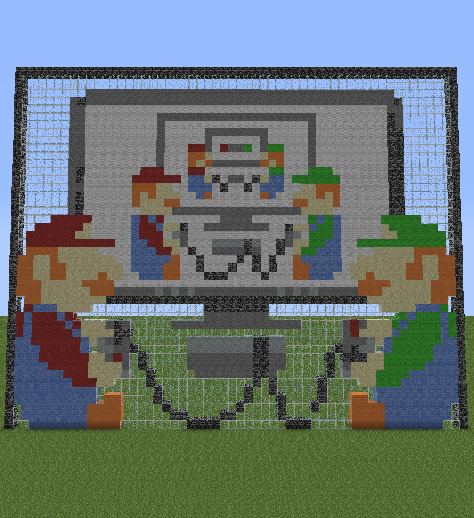 Minecraft Pixel Art Helper Mario Amp Luigi Playing Mario