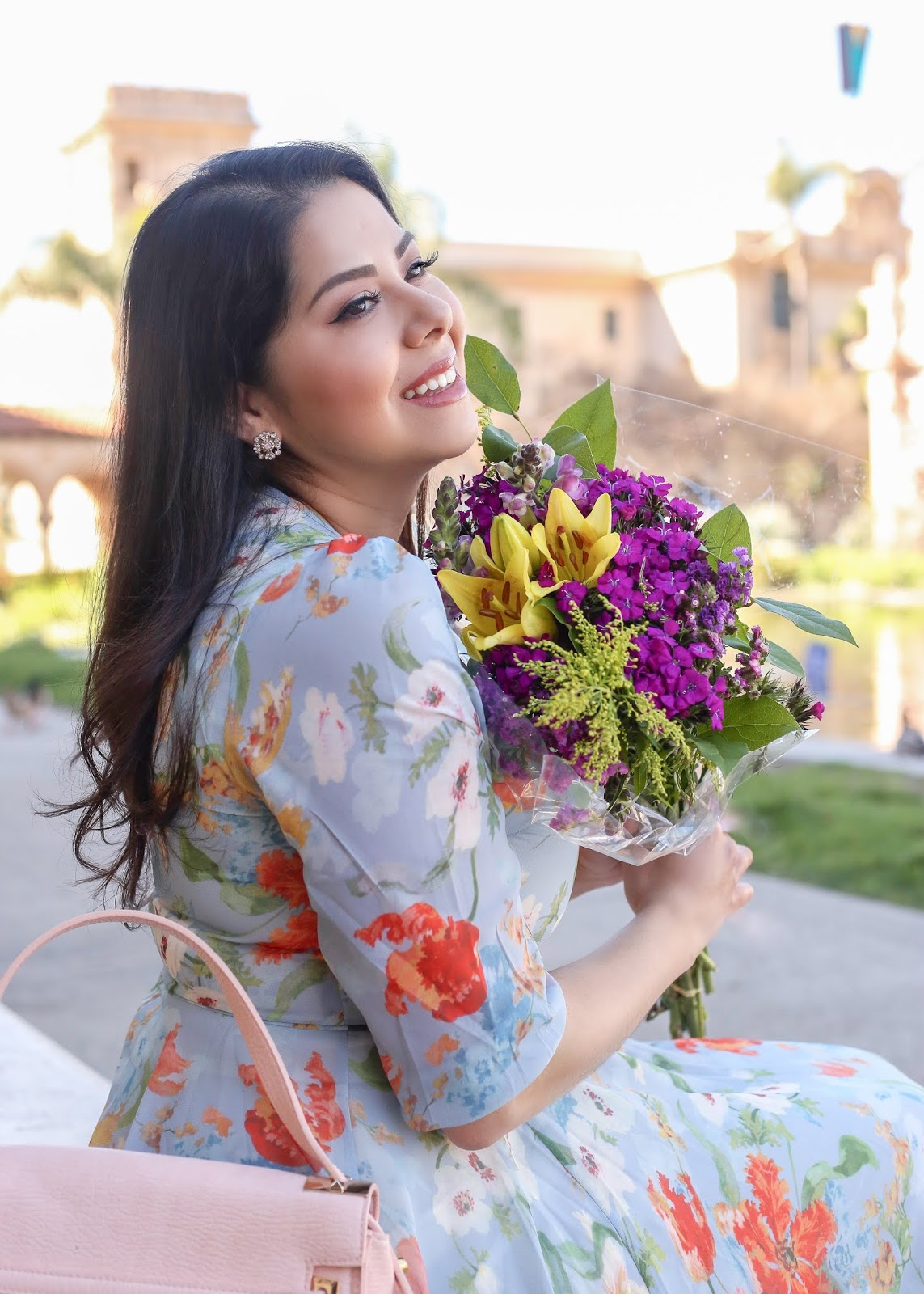 San Diego beauty blogger, florals on florals style blogger