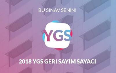 2018 YGS GERİ SAYIM SAYACI | YGS SINAVINA NE KADAR KALDI?