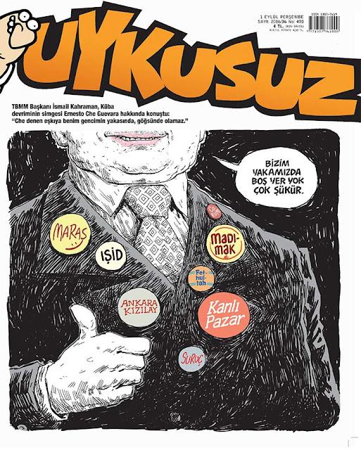 Uykusuz Dergisi - 1 Eylül 2016 Kapak Karikatürü