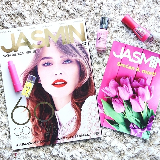 Jelena Zivanovic Instagram @lelazivanovic.Glam fab week.Jasmin katalog prolece.Sally Hansen and Bourjois pink nailpolishes.Beautiful feminine chic flatlays.
