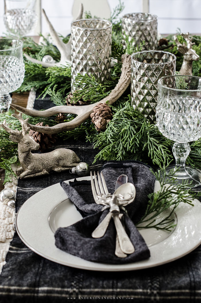 Rustic Woodland Table for Christmas