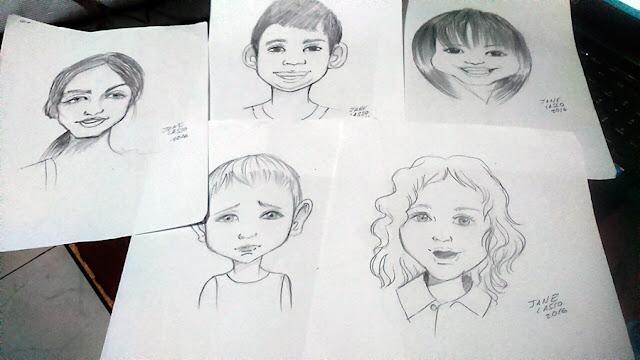 Caricaturas a lápiz