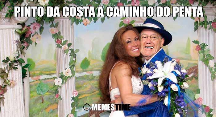 GIF Memes Time… da bola que rola e faz rir - Parece que Pinto da Costa antes de abandonar a Presidencia do FCPorto ainda vai dar aos adeptos um Penta… desta vez um Penta Casamento com uma colombiana ainda desconhecida para a maioria dos Portistas - Pinto da Costa a caminho do Penta