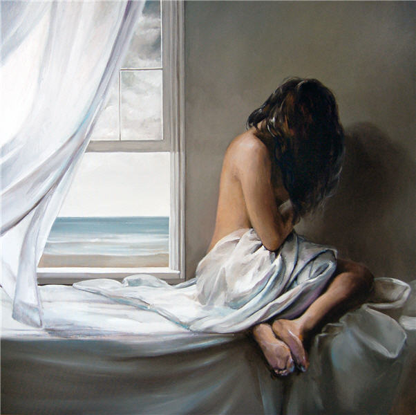 Victor Bauer 1969 | American Knife Figurative painter | Ocean breeze