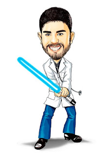 caricatura de formando star wars