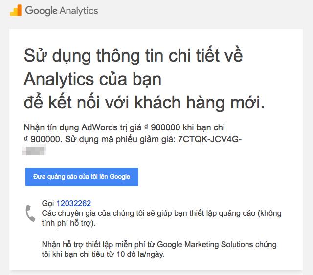 Mã coupon google adwords