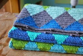 little woollie: Crochet Harlequin Blanket #4