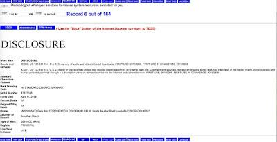 Шем Эль Джамаль - Новое Космическое Раскрытие: Наблюдения и мысли о свидетельстве нового предполагаемого разоблачителя Disclosure%2BTrademark%2BApp.