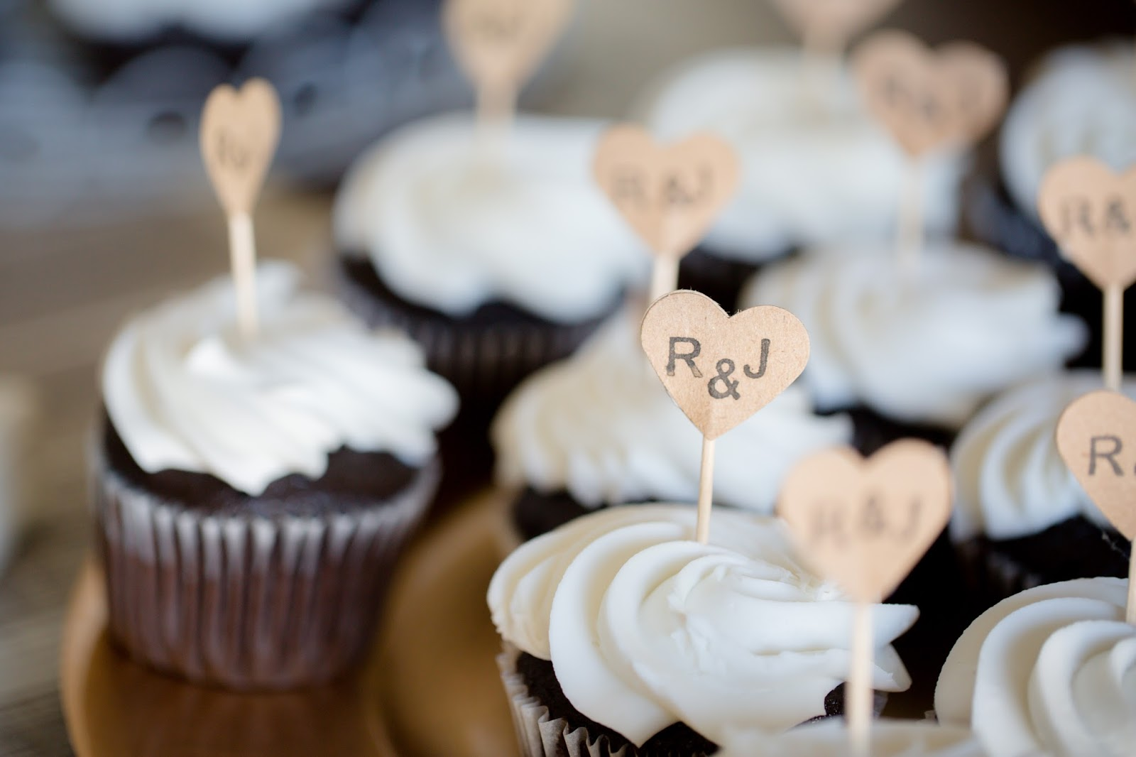 Homemade cupcakes for bride and groom