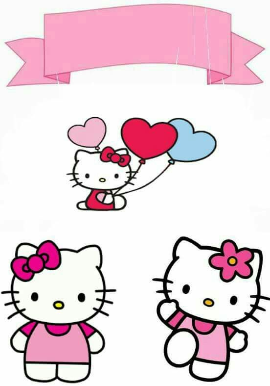 image relating to Printable Cake Paper named Howdy Kitty Absolutely free Printable Cake Toppers. - Oh My Fiesta! within just