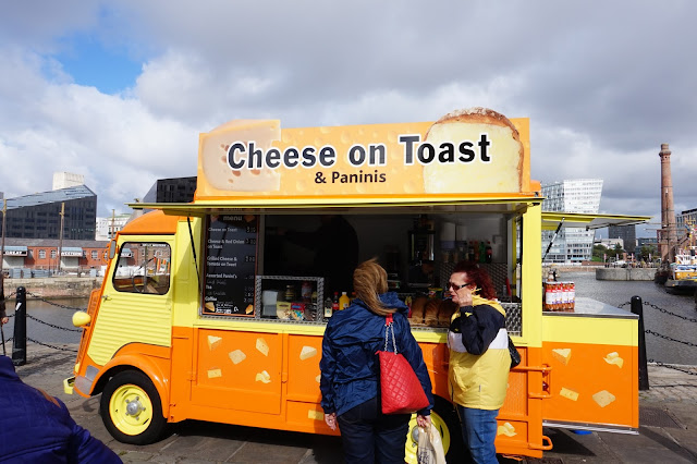 Food Van, Cheese on Toast, Albert Dock, Liverpool
