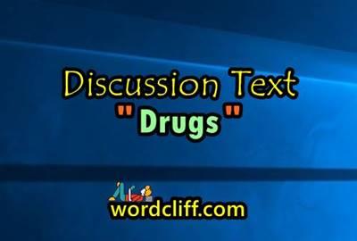 Contoh Discussion Text Tentang Narkoba