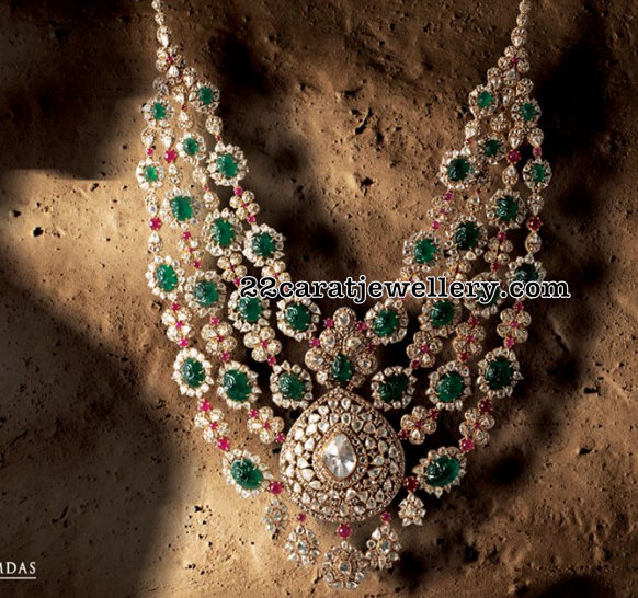 Grand Necklace by Birdhichand Ghanshyamdas Jewellers