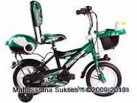 2 Sepeda Anak Evergreen EG1245 Future Cop dengan Sandaran 12 Inci
