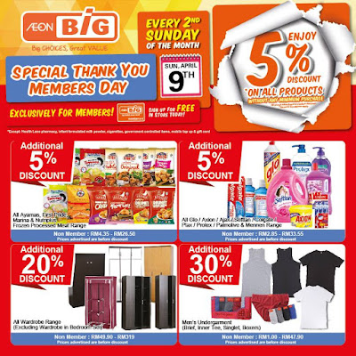AEON BiG Special Thank You Member Day Promo