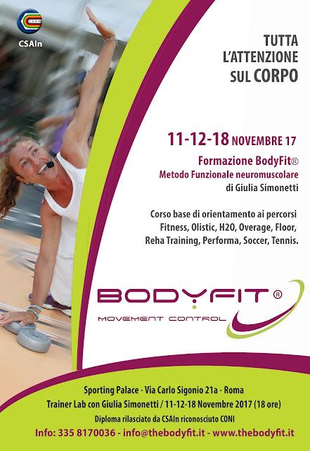Formazione BodyFit. - Movement Control, 11-12 e 18 novembre 2017 a Roma